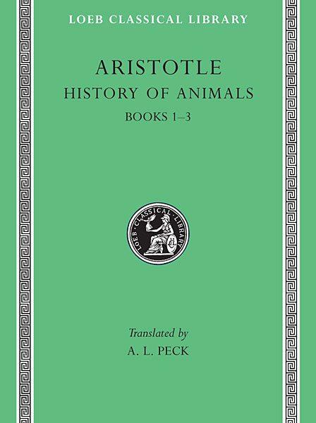 Arystoteles: Historia zwierząt, Tom I