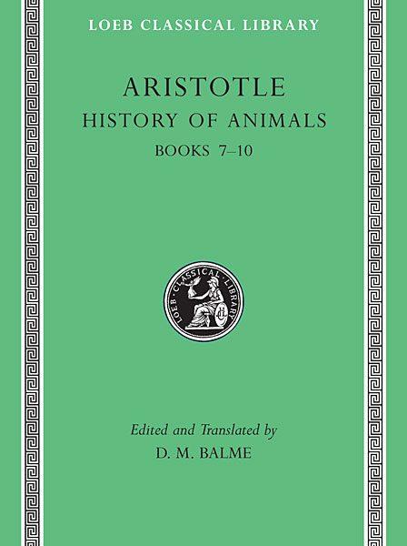 Arystoteles: Historia zwierząt, Tom III