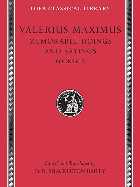 Waleriusz Maksymus: O słynnych czynach i powiedzeniach, Tom II